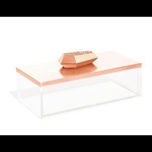 Kendra Scott Rose Gold Drusy Rectangle Box